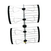 ClearConX Outdoor UHF 4-Bay Bow Tie Directional Antenna - 96 km (60 Miles) CC4BBT