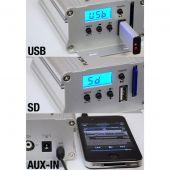 Pyle PLMCA40 300 Watts Motorcycle/ATV/Snowmobile Mount MP3/Ipod/USB Amplifier with Dual handle-bar Mount Weatherproof speakers W/FM Radio