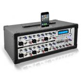 PylePro (PMX630I) 6-Channel 600 Watt Professional Mixer - iPod Dock, MP3 Player Input, SD Memory Card and USB Flash Readers