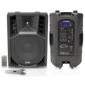 PylePro (PPHP158AI) 15'' 1400 Watt Portable Powered 2 Way Full Range PA Speaker w/Built-in iPod Dock USB SD