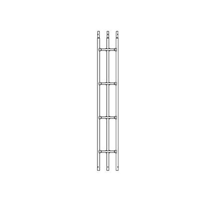SURECONX 2-METER (6.75-FT) 18-GAUGE HEAVY DUTY DOUBLE WELD TUBULAR TOWER STRAIGHT SECTION