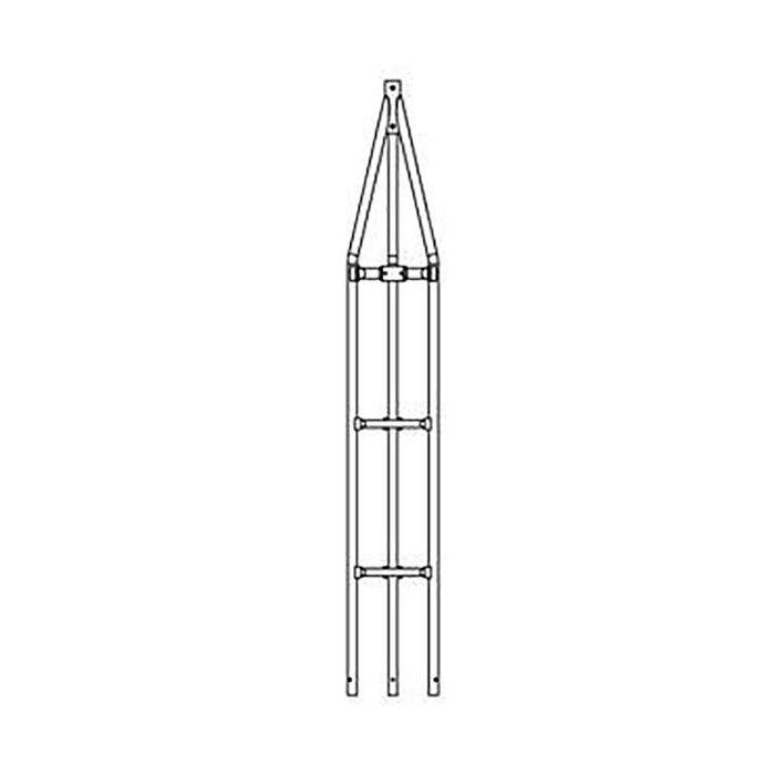 SURECONX 2-METER (6.75-FT) 18-GAUGE HEAVY DUTY DOUBLE WELD TUBULAR TOWER TOP SECTION