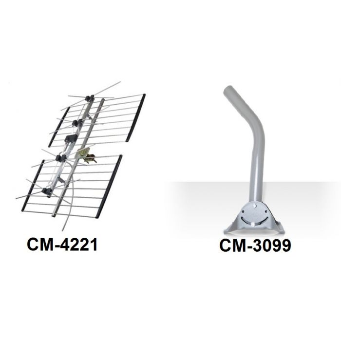 Channel Master Antenna and J Pipe Combo Package