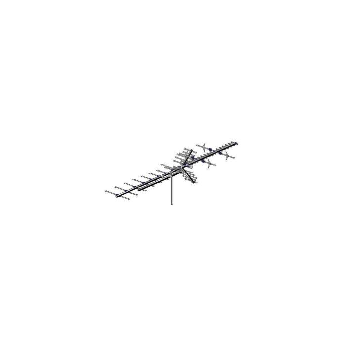 AntennaCraft 55 Element UHF / High-Band VHF Outdoor HDTV Antenna HBU55