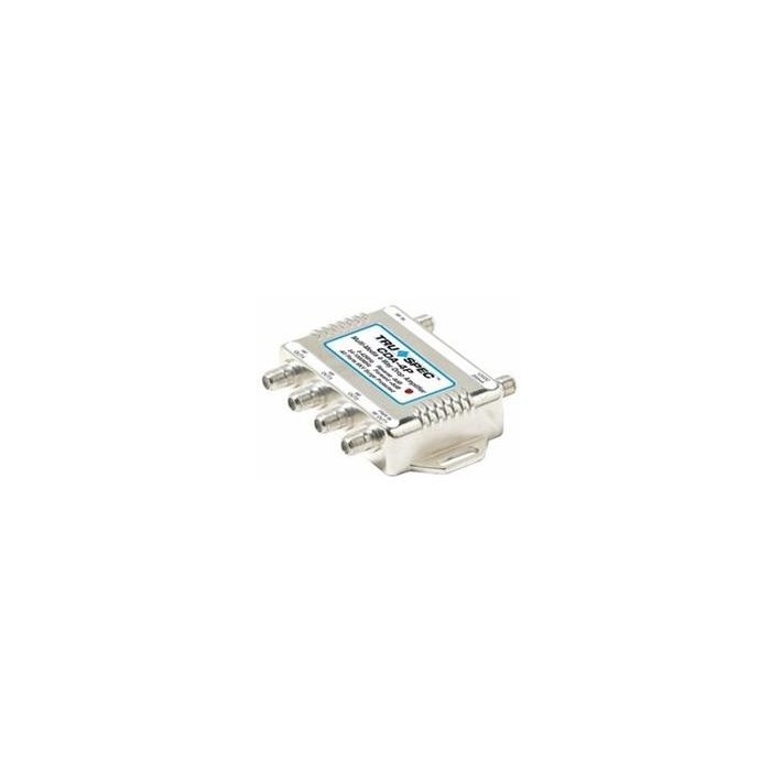 Pico Macom CDA-4P  Bi-Directional 4 Ports Distribution Amp Amplifier CDA4P with Passive Return Drop Amp for Antenna, CATV, Internet