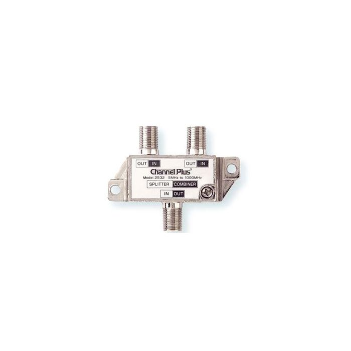 Channel Plus 2532 2-Way Splitter Combiner for combining or splitting two OTA antenna Signal