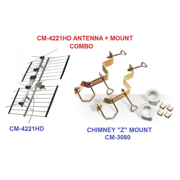 Channel Master CM 4221HD and Chimney Z mount CM 3080 combo package
