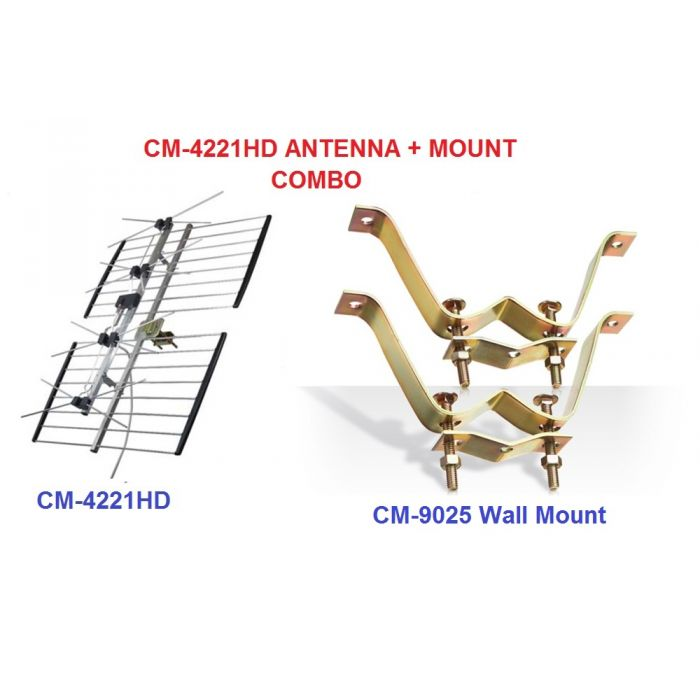 Channel Master CM 4221HD and  Wall mount CM 9025 combo package
