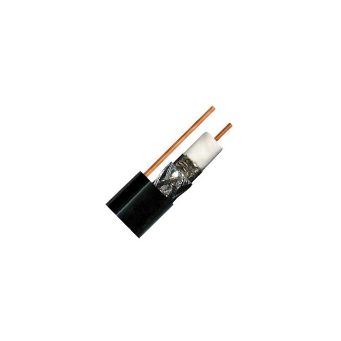 Perfect Vision Single Coax RG6 Coaxial Cable with Ground - Black - 100 ft Roll