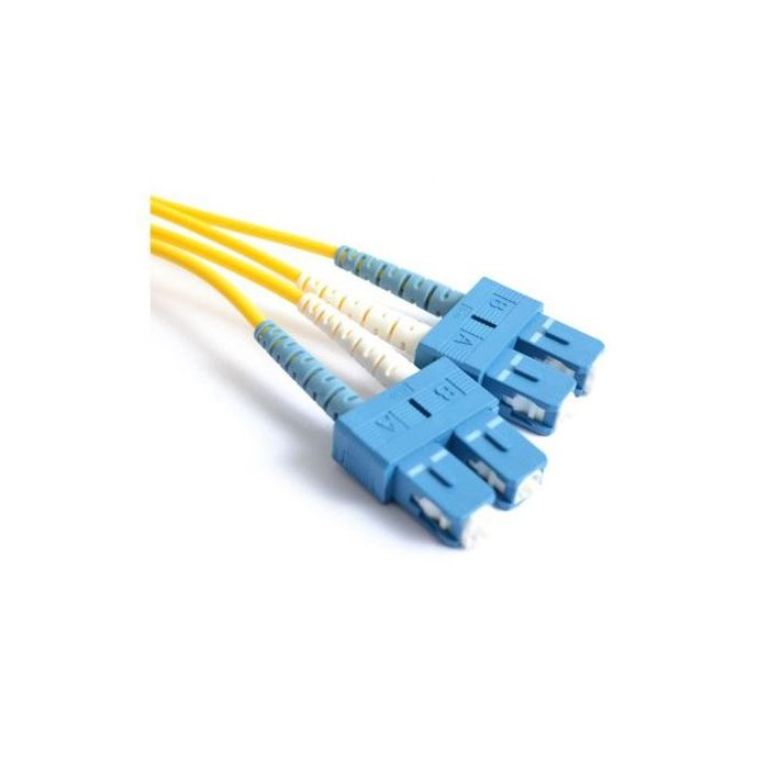 FIS Duplex 3mm SM SMF-28 Ultra Fiber Patch Cable with SC/UPC Connector - 10M