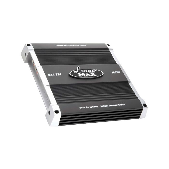 Lanzar  MXA224  1000 Watt 2 Channel Bridgeable MOSFET Car Audio Amplifier