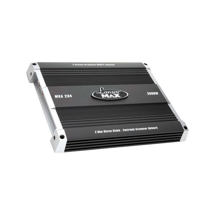 Lanzar MXA234 2000 Watt 2 Channel Bridgeable MOSFET Amplifier