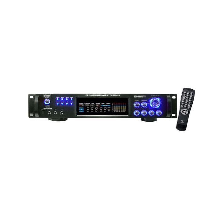 PylePro  P3001AT 3000 Watts Hybrid Pre Amplifier with  AM FM Tuner