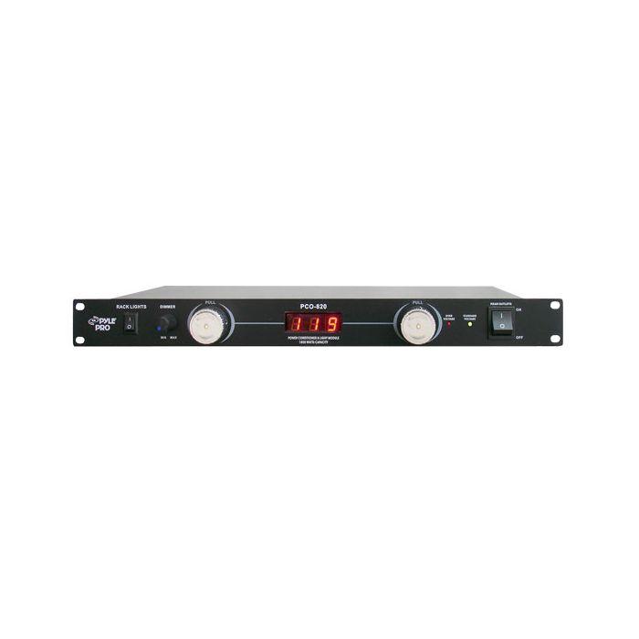 PylePro (PCO820) 19'' Rack Mount 8 Outlets 1800 Watt Power Conditioner W/Voltage Meter