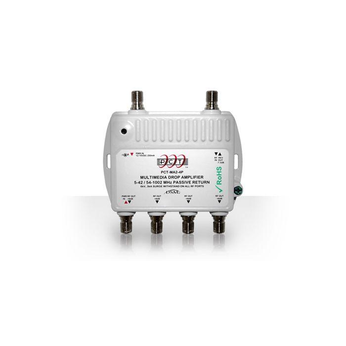 PCT RF Amplifier  Passive Return Cable TV 4 Ports Amplifier PCTMA24P