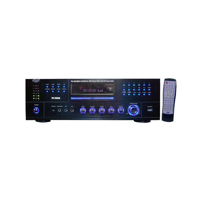 PyleHome PD3000A 3000 Watt AM-FM Receiver w/ Built-In DVD/ MP3 / USB