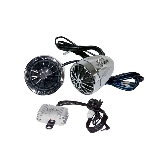 Pyle  PLMCA30  400 Watts Motorcycle ATV Snowmobile Mount Amplifier w/Dual handle-bar Mount Weatherproof speakers w/MP3/Ipod Input