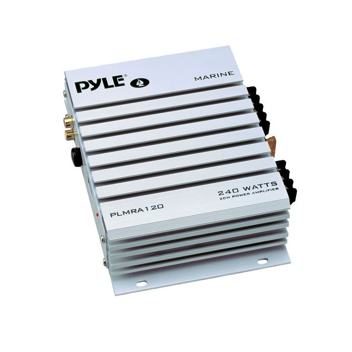 Pyle PLMRA120 2 Channel 240 Watt Waterproof Marine Amplifier