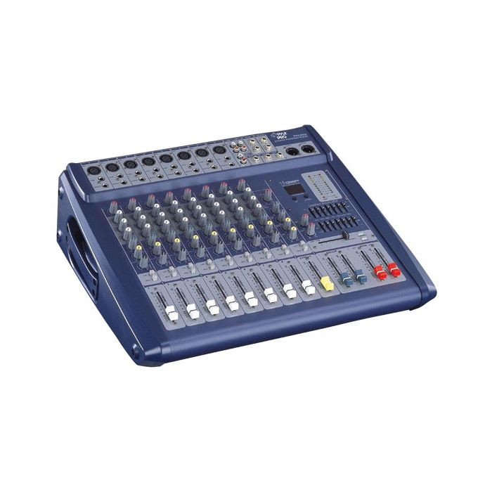 PylePro PMX808 8 Channel 600 Watts Digital Powered Stereo Mixer W/DSP