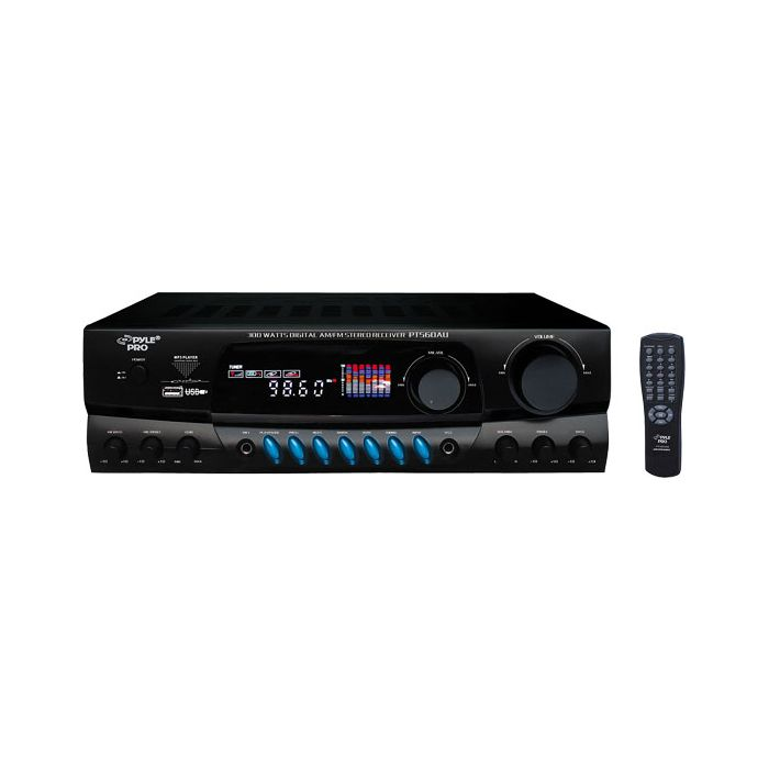 PylePro PT560AU 300 Watts Digital AM/FM/USB Stereo Receiver