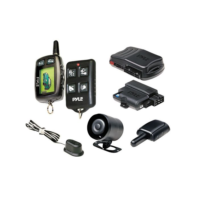 Pyle  PWD901 LCD 2-Way Remote Start Security System w/Advanced Impact Sensor
